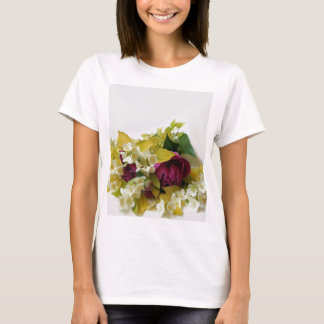 Golden Mock Orange and Pink Peonies T-Shirt