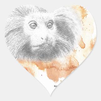 Golden Monkey Daemon - His Dark Materials Heart Sticker