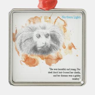 Golden Monkey Daemon - His Dark Materials Metal Ornament