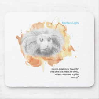 Golden Monkey Daemon - His Dark Materials Mouse Pad
