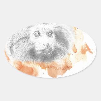 Golden Monkey Daemon - His Dark Materials Oval Sticker