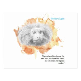 Golden Monkey Daemon - His Dark Materials Postcard