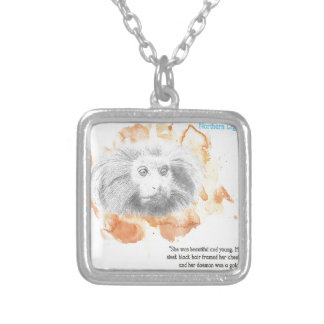 Golden Monkey Daemon - His Dark Materials Silver Plated Necklace
