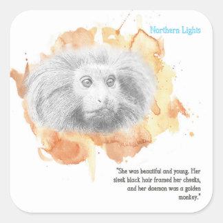 Golden Monkey Daemon - His Dark Materials Square Sticker