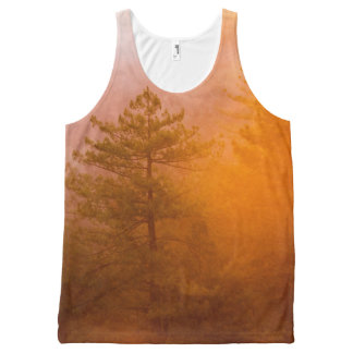 Golden Morning Glory Forest All-Over-Print Tank Top
