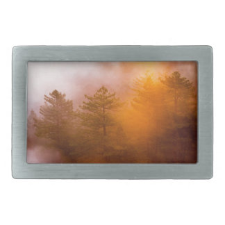 Golden Morning Glory Forest Belt Buckle