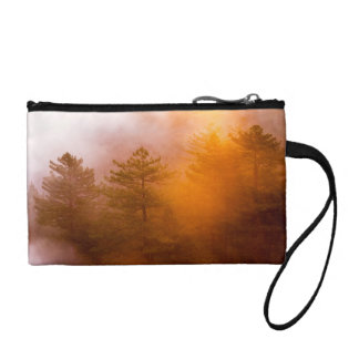 Golden Morning Glory Forest Coin Wallet