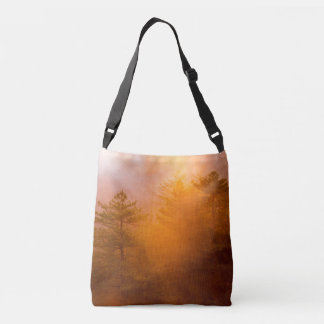 Golden Morning Glory Forest Crossbody Bag