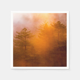 Golden Morning Glory Forest Disposable Napkin