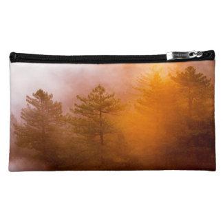 Golden Morning Glory Forest Makeup Bag