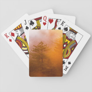 Golden Morning Glory Forest Playing Cards
