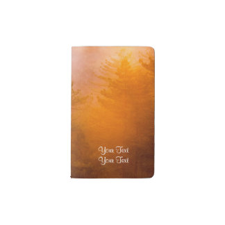 Golden Morning Glory Forest Pocket Moleskine Notebook
