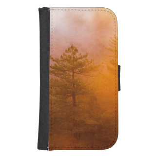 Golden Morning Glory Forest Samsung S4 Wallet Case