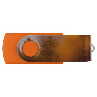 Golden Morning Glory Forest Swivel USB 2.0 Flash Drive
