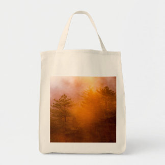 Golden Morning Glory Forest Tote Bag