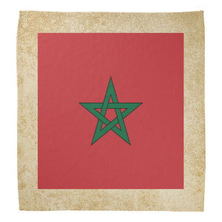 Golden Morocco Flag Bandana