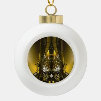 Golden Movie Reels And A Gazillion Stars Ceramic Ball Ornament