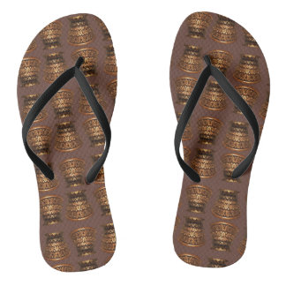 Golden mulberry capital flip flops
