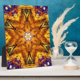 Golden Multi Colored Mandala Plaque