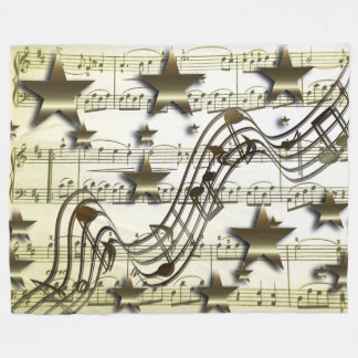 Golden Music Fleece Blanket