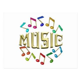 GOLDEN MUSIC POSTCARD
