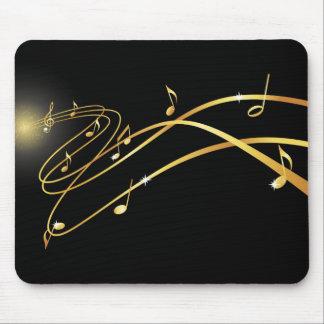 Golden musical flow mousepad