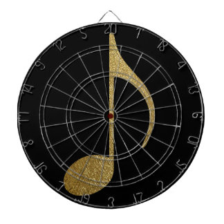 golden musical note dart boards
