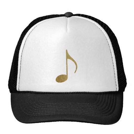 golden musical note trucker hats