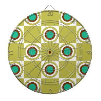 Golden Mustard Diner Dots Dart Board
