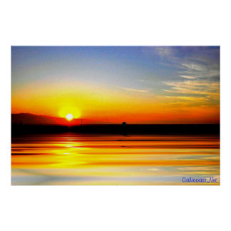 Golden Ocean Sunset Print