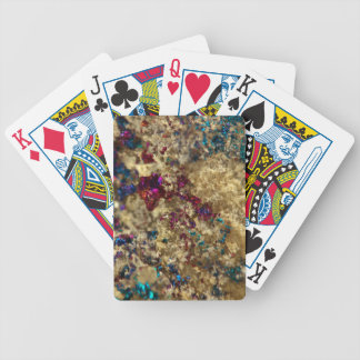 Golden Oil Slick Quartz Bicycle Playing Cards