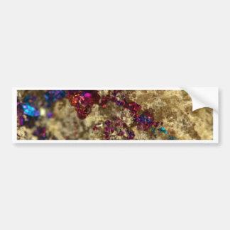Golden Oil Slick Quartz Bumper Sticker