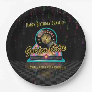 Golden Oldie Party Plate