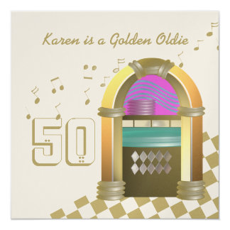 Golden Oldies Juke Box Card