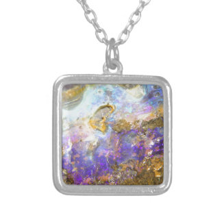 Golden Opal Silver Plated Necklace