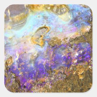 Golden Opal Square Sticker