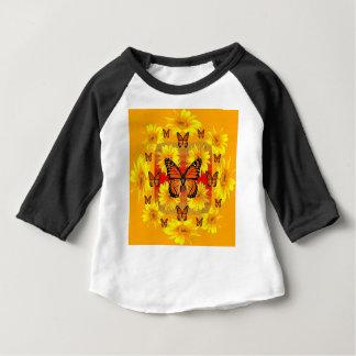 GOLDEN ORANGE MONARCH BUTTERFLIES & SUN FLOWERS BABY T-Shirt