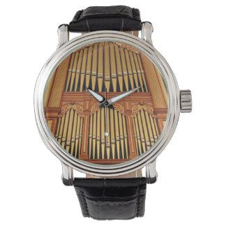 Golden organ pipes watch