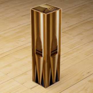 Golden organ pipes wine gift box