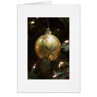 Golden Ornament Card