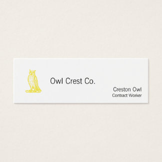 Golden Owl Crest Letterpress Style Mini Business Card