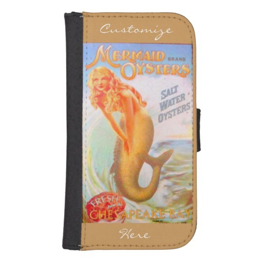 golden oyster mermaids wallet case phone wallets