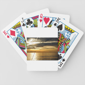 golden pacific sunset bicycle playing cards