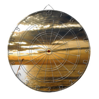 golden pacific sunset dartboard