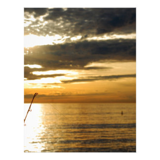 golden pacific sunset letterhead design