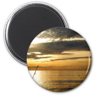 golden pacific sunset magnet