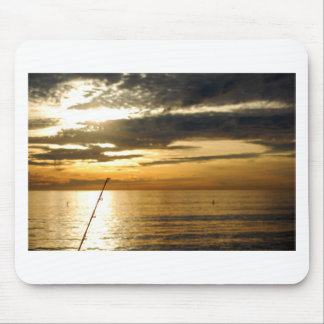 golden pacific sunset mouse pad