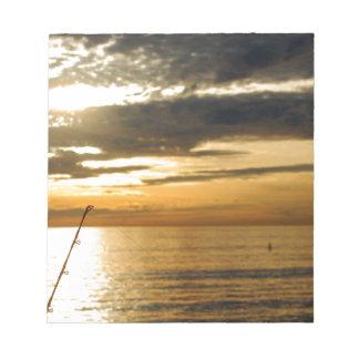 golden pacific sunset notepads
