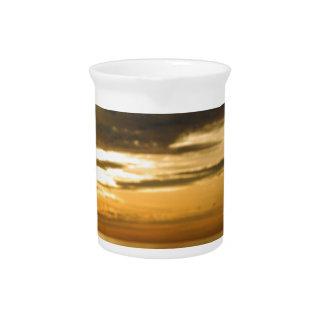 golden pacific sunset pitcher