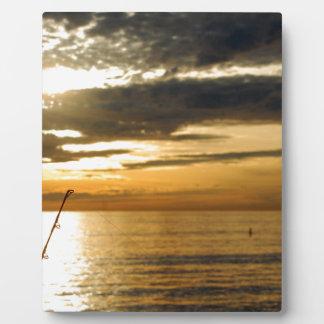 golden pacific sunset plaque